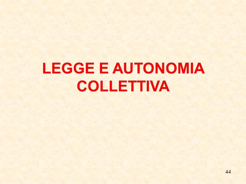 44 LEGGE E AUTONOMIA COLLETTIVA