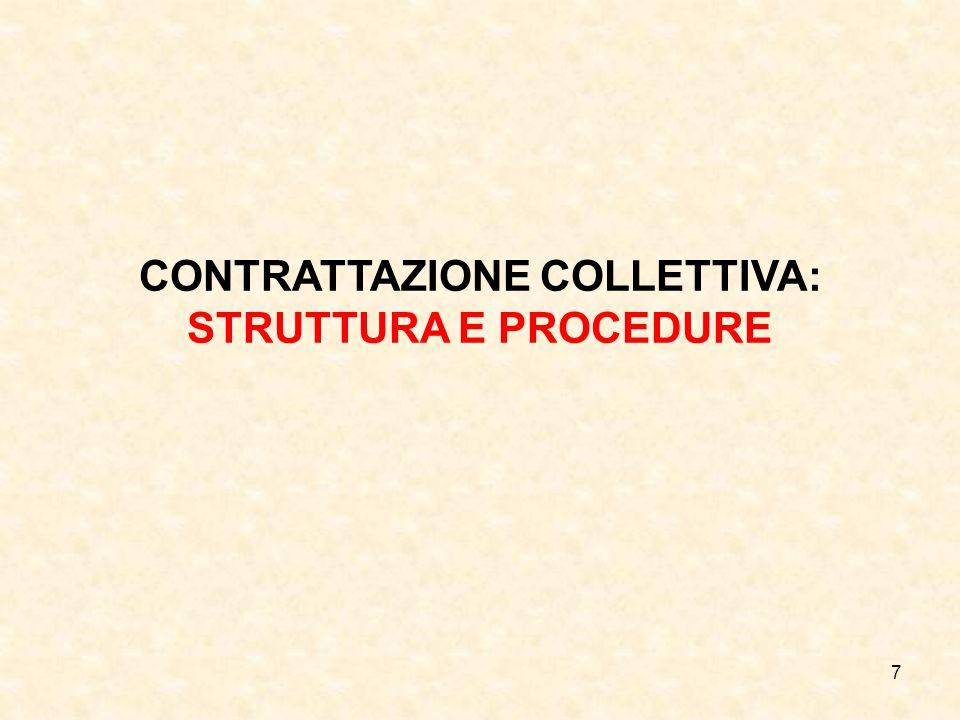 7 CONTRATTAZIONE COLLETTIVA: STRUTTURA E PROCEDURE