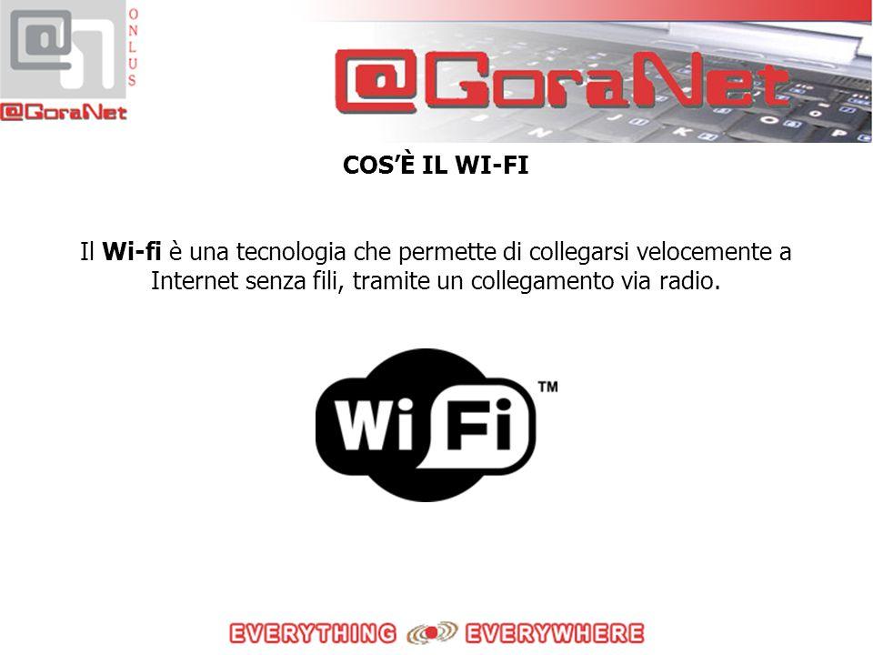 Il Wi-fi è una tecnologia che permette di collegarsi velocemente a Internet senza fili, tramite un collegamento via radio.