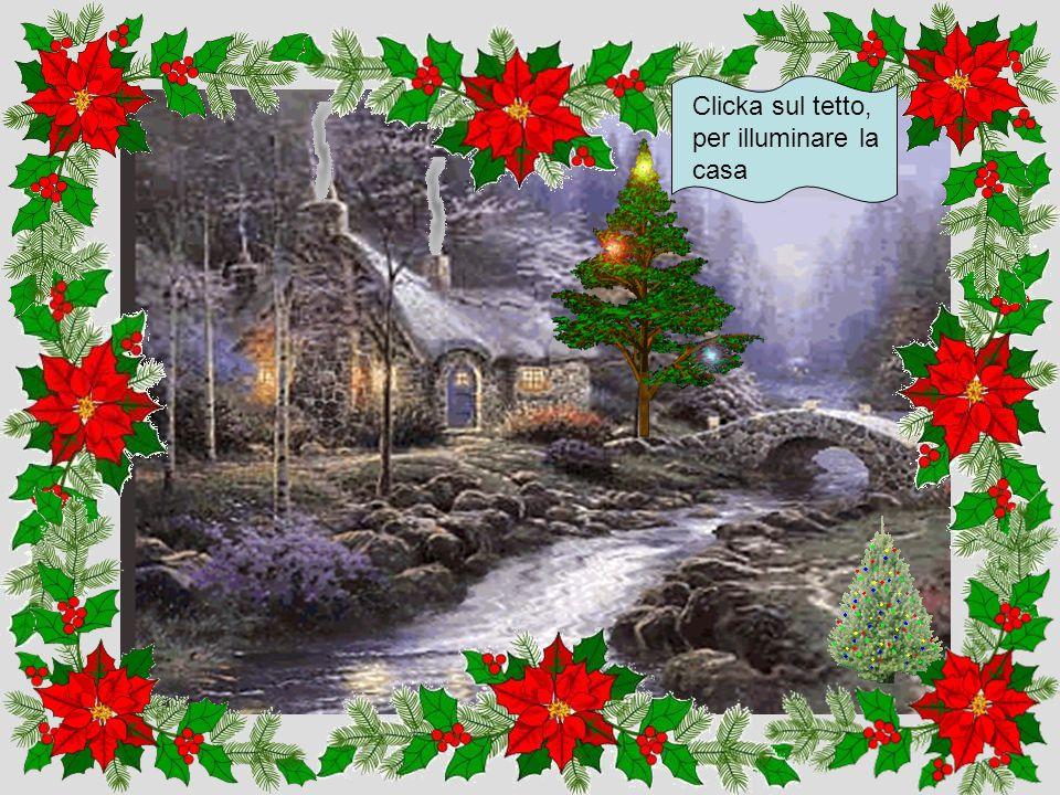 Clicka sull'albero per convertirlo in uno di Natale