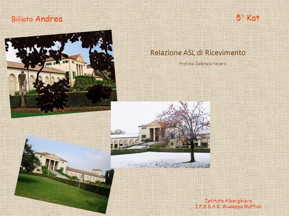 Biliato Andrea 5° Kat Istituto Alberghiero I.P.S.S.A.R.