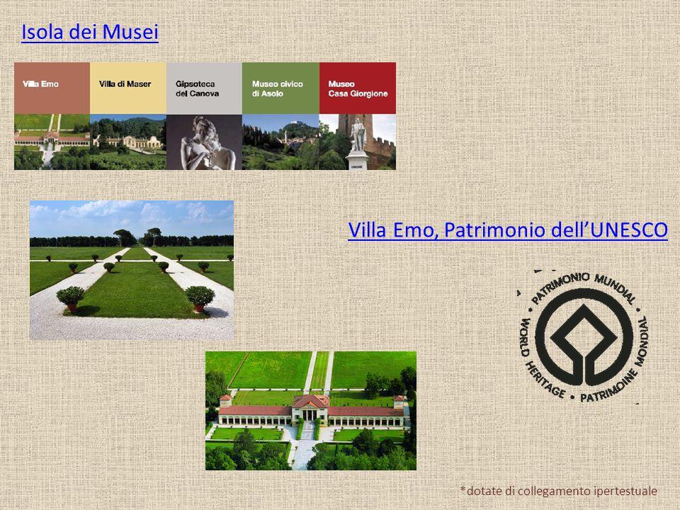 Isola dei Musei Villa Emo, Patrimonio dell'UNESCO *dotate di collegamento ipertestuale
