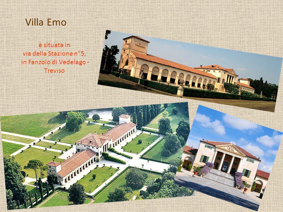 Villa Emo è situata in via della Stazione n°5, in Fanzolo di Vedelago - Treviso