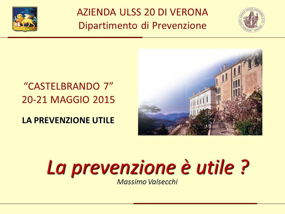 AZIENDA ULSS 20 DI VERONA Dipartimento di Prevenzione La prevenzione è utile .