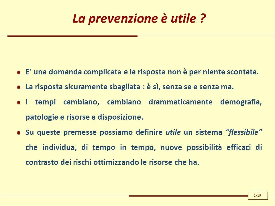 La prevenzione è utile . E' una domanda complicata e la risposta non è per niente scontata.