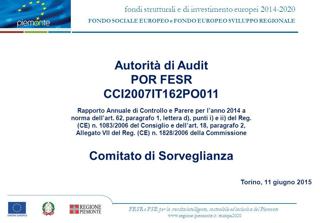 fondi strutturali e di investimento europei 2014-2020 FONDO SOCIALE EUROPEO e FONDO EUROPEO SVILUPPO REGIONALE FESR e FSE per la crescita intelligente