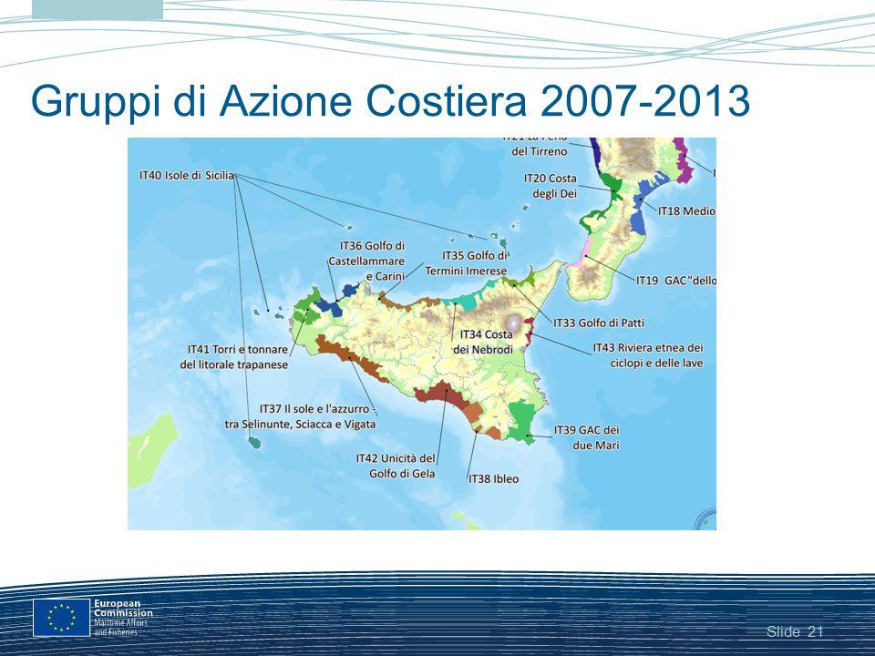 Slide Gruppi di Azione Costiera 2007-2013 21