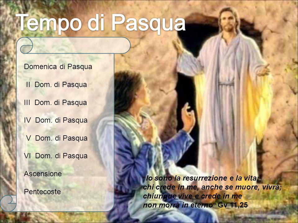 """"""" Io sono la resurrezione e la vita; chi crede in me, anche se muore, vivrà; chiunque vive e crede in me non morrà in eterno """" Gv 11,25 Domenica di Pa"""