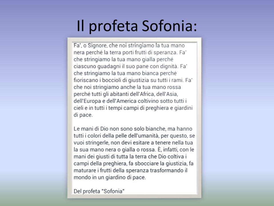 Il profeta Sofonia: