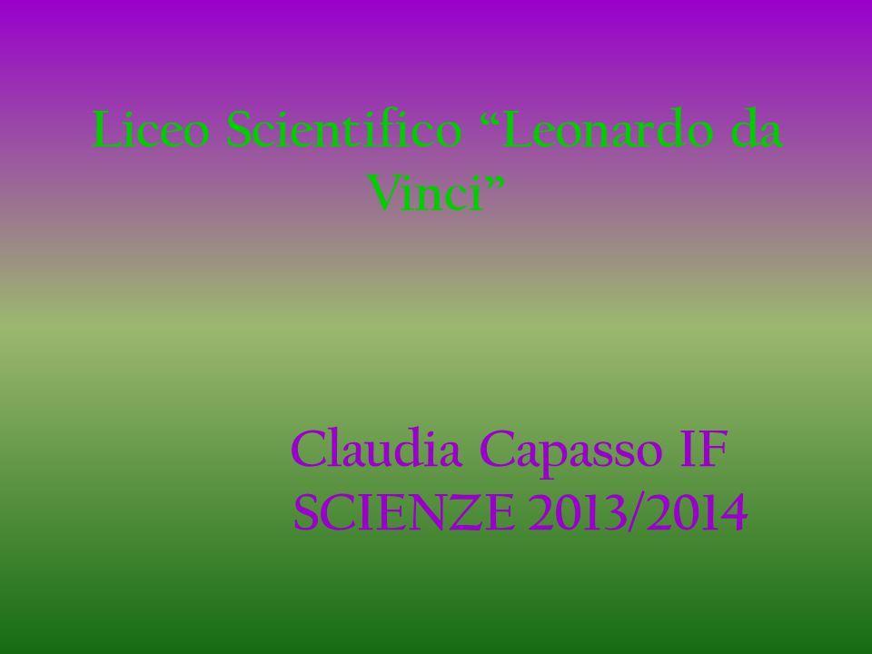Liceo Scientifico Leonardo da Vinci Claudia Capasso IF SCIENZE 2013/2014
