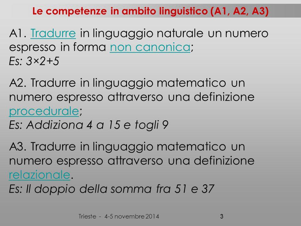 Trieste - 4-5 novembre 2014 4 A4.