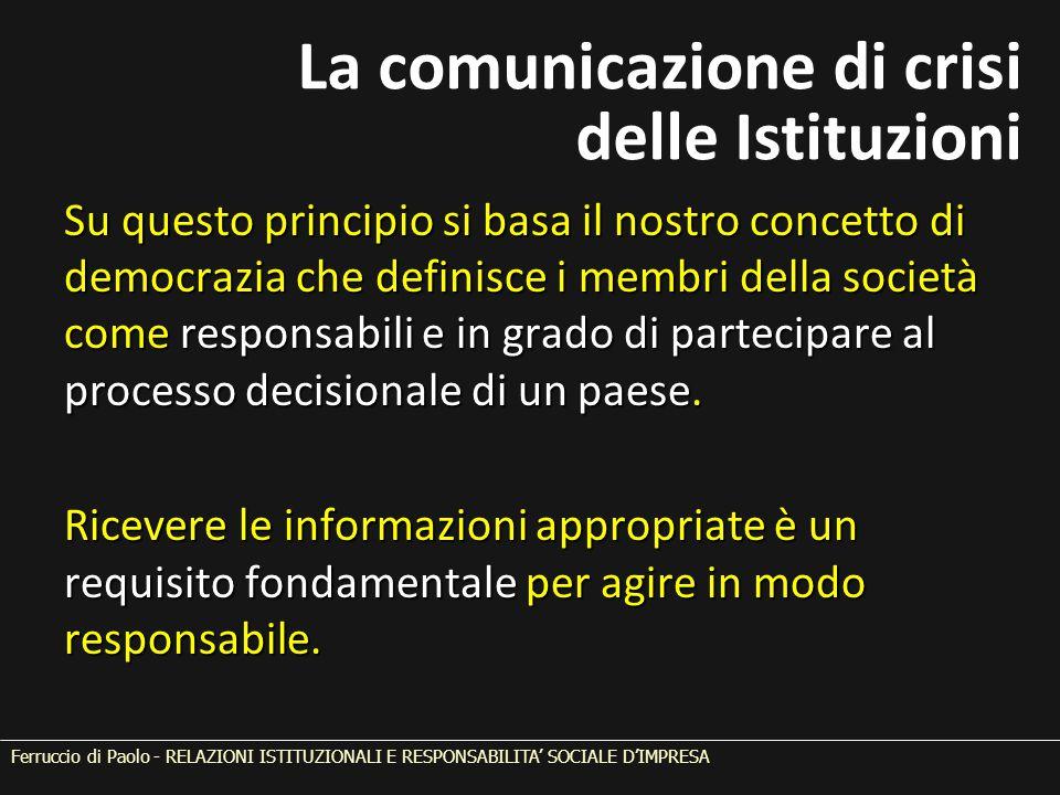 Su questo principio si basa il nostro concetto di democrazia che definisce i membri della società come responsabili e in grado di partecipare al proce