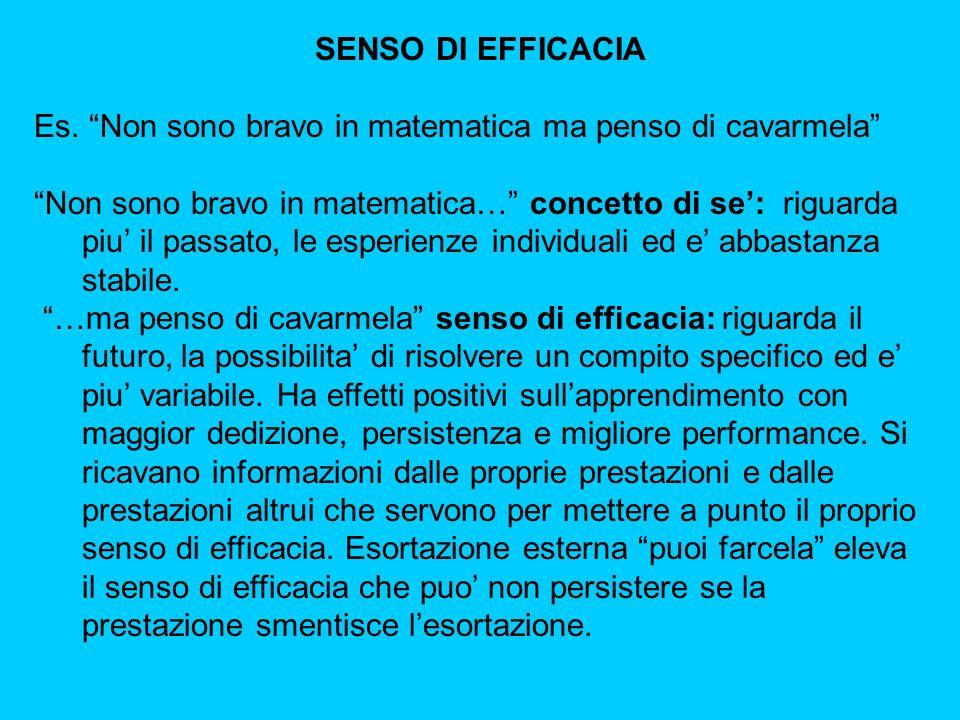 SENSO DI EFFICACIA Es.