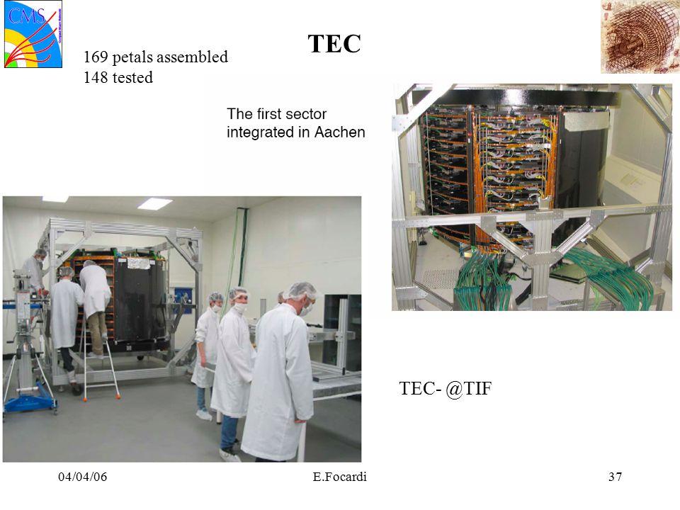 04/04/06E.Focardi37 TEC TEC- @TIF 169 petals assembled 148 tested