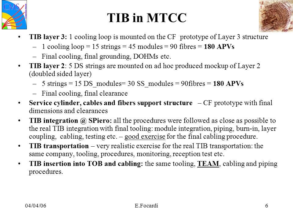 04/04/06E.Focardi27 Disco 1 : temp sensori a silicio Silicon @-14C for DS modules, @-17C for SS modules