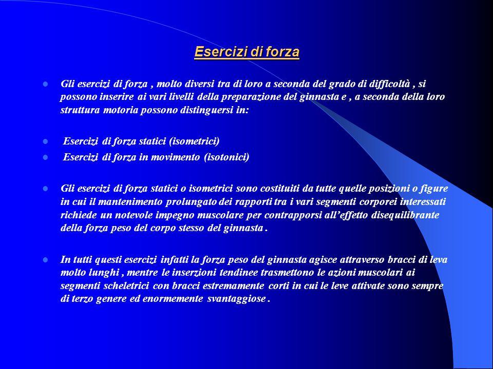 Esercizi di equilibrio Vengono definiti esercizi di equilibrio tutte quelle posizioni statiche, in condizione di equilibrio instabile o metastabile (