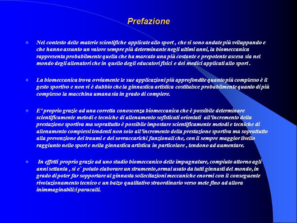 Divisione strutturale degli esercizi propedeutici alla Ginnastica Artistica eseguiti al mini-trampolino elastico e principi generali di meccanica appl