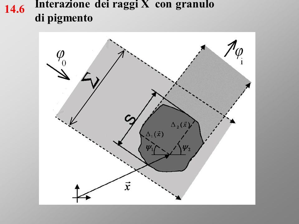 Attenuazione del fascio incidente per effetto dell'assorbimento nei granuli 15.6