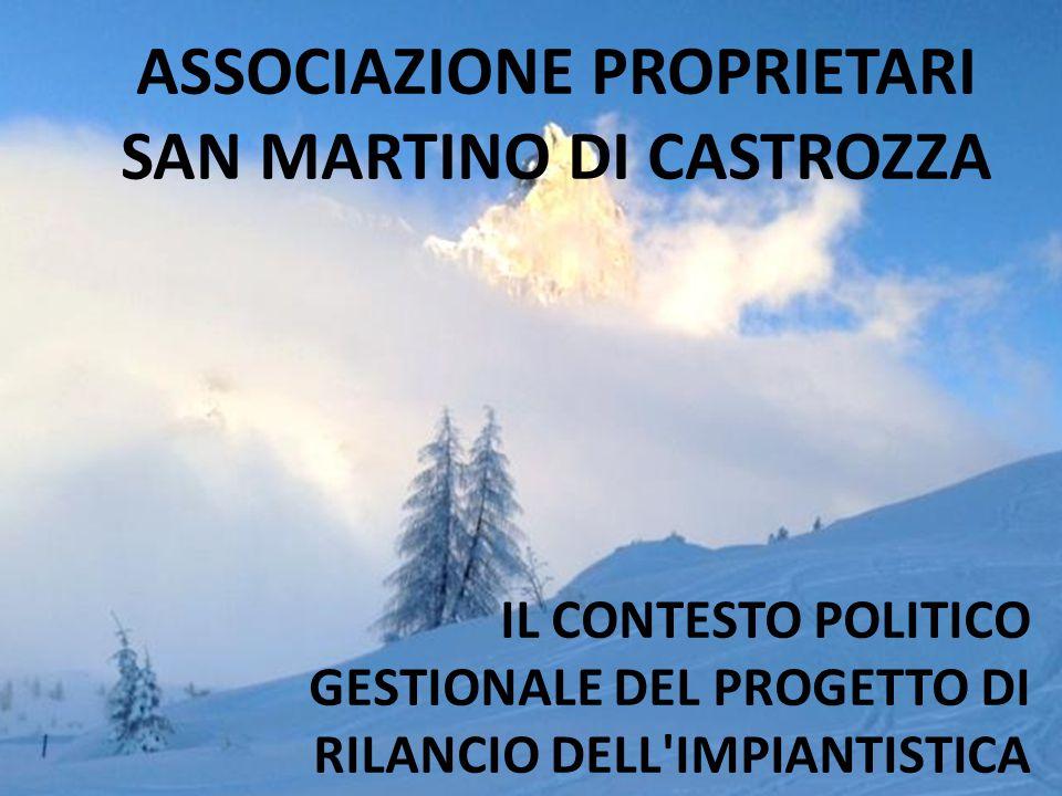 ASSOCIAZIONE PROPRIETARI SAN MARTINO DI CASTROZZA IL CONTESTO POLITICO GESTIONALE DEL PROGETTO DI RILANCIO DELL'IMPIANTISTICA