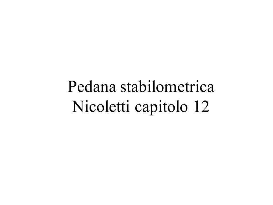 Pedana stabilometrica Nicoletti capitolo 12