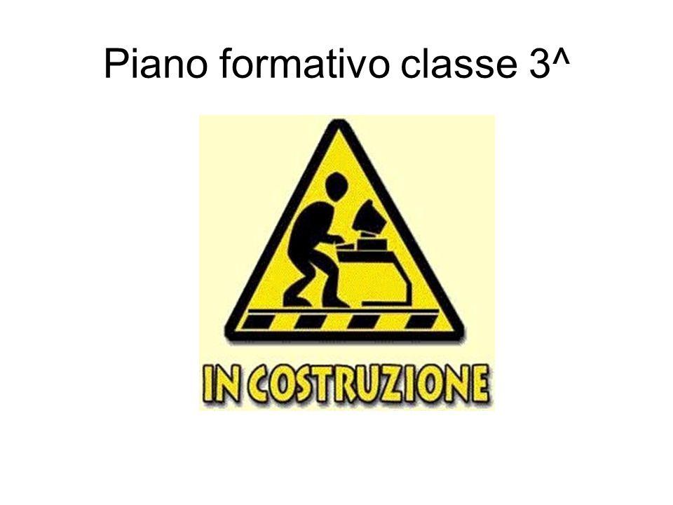 Piano formativo classe 3^