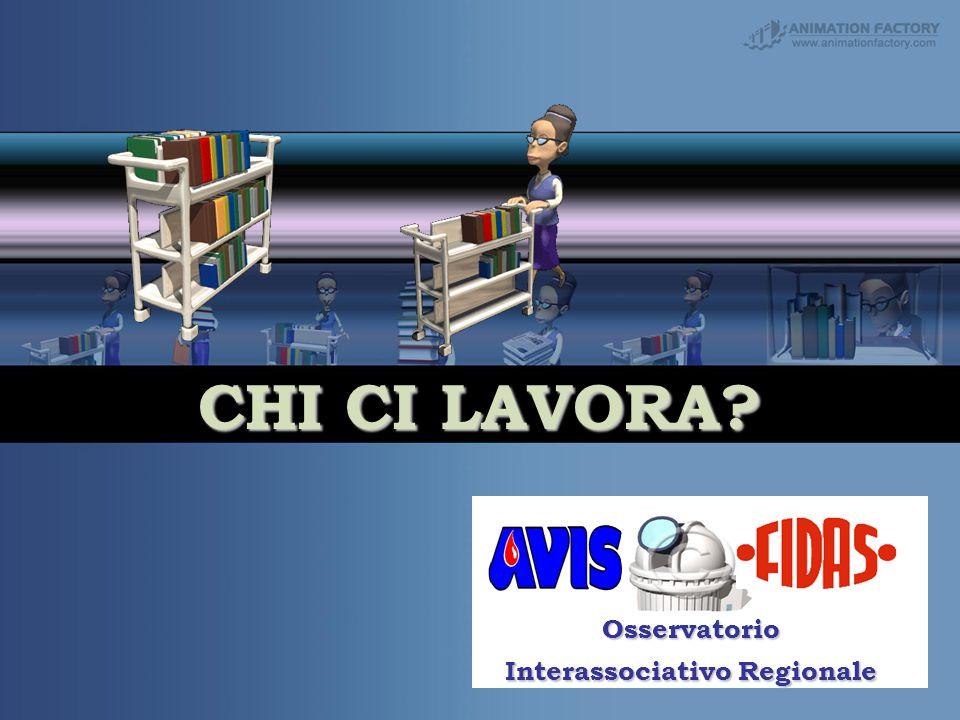 CHI CI LAVORA Your Subtitle Goes Here Osservatorio Interassociativo Regionale