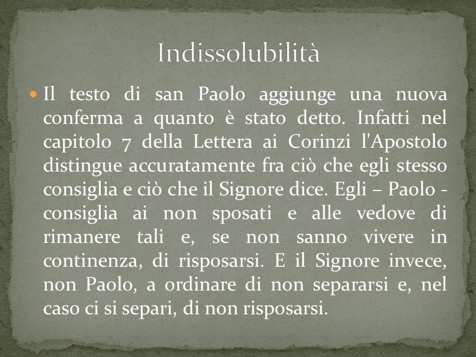 Il testo di san Paolo aggiunge una nuova conferma a quanto è stato detto.