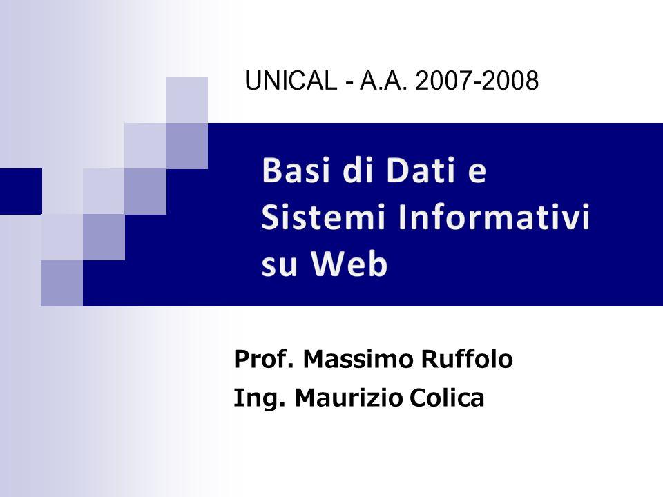Prof. Massimo Ruffolo Ing. Maurizio Colica