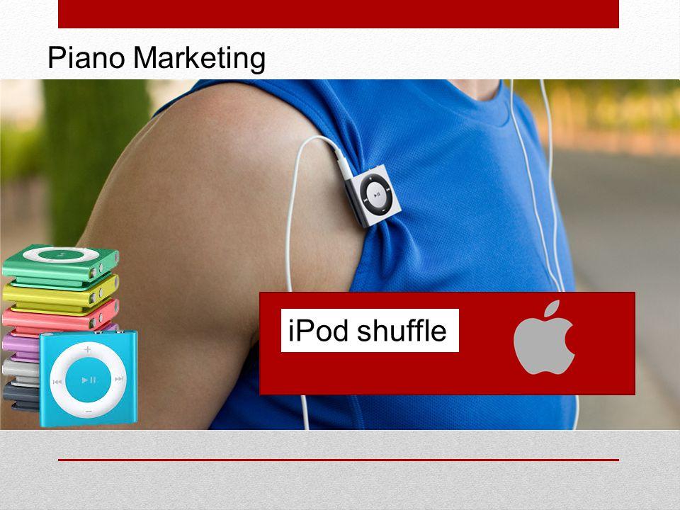 ANALISI DELLA CLIENTELA Secondo alcune ricerche ricavate dal questionario di mercato, messo all'interno di negozi di Elettronica, viene riscontrato che il nuovo iPod shuffle vuole influenzare il target di riferimento comprendente entrambi i sessi, uomini e donne, di età compresa tra i 12 e 60 anni.