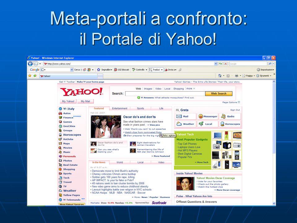 Meta-portali a confronto: il Portale di Yahoo!