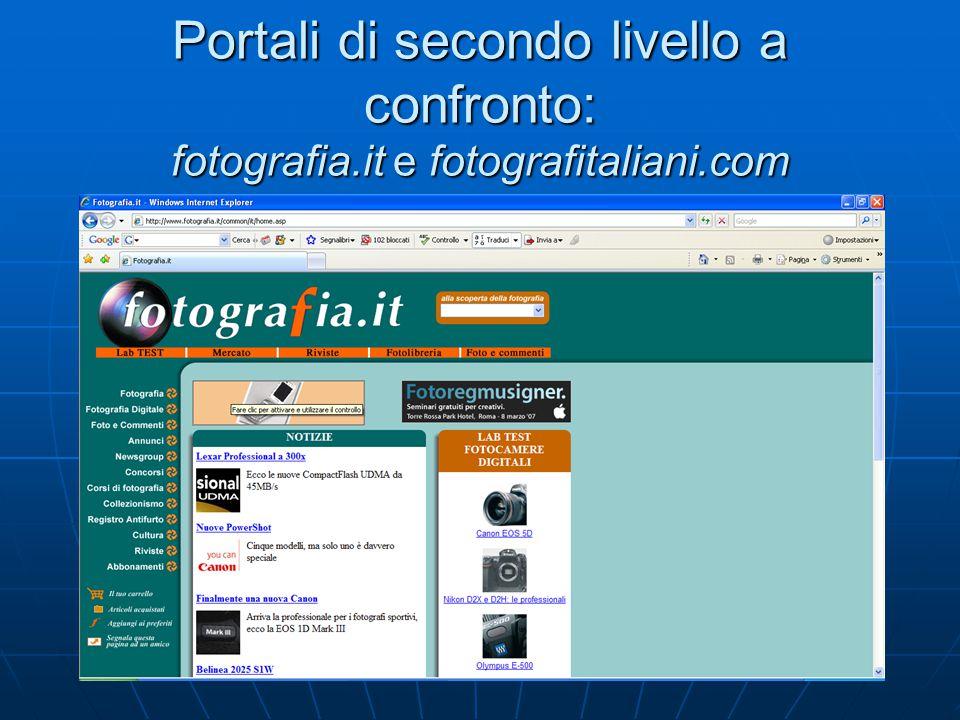 Portali di secondo livello a confronto: fotografia.it e fotografitaliani.com