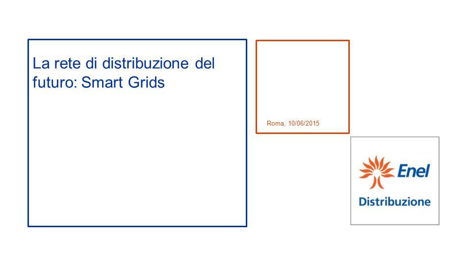 La rete di distribuzione del futuro: Smart Grids Roma, 10/06/2015