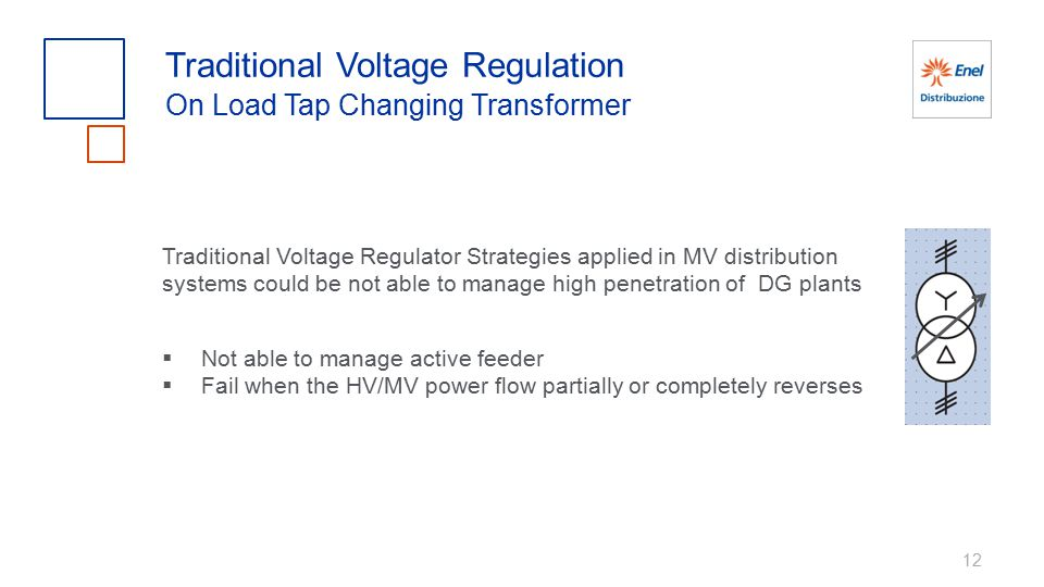 12 Traditional Voltage Regulation On Load Tap Changing Transformer Traditional Voltage Regulator Strategies applied in MV distribution systems could b