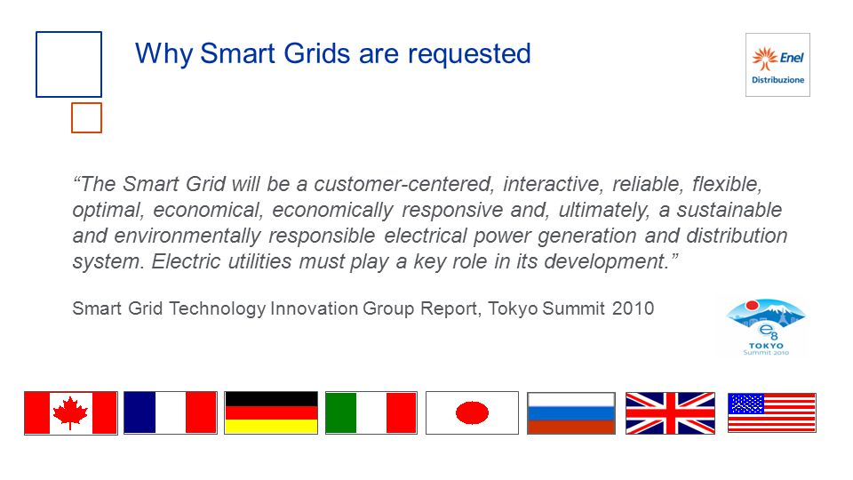 The Smart Grid will be a customer-centered, interactive, reliable, flexible, optimal, economical, economically responsive and, ultimately, a sustainable and environmentally responsible electrical power generation and distribution system.