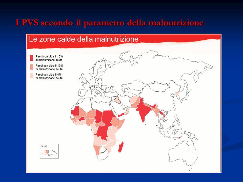 I PVS secondo il parametro della malnutrizione