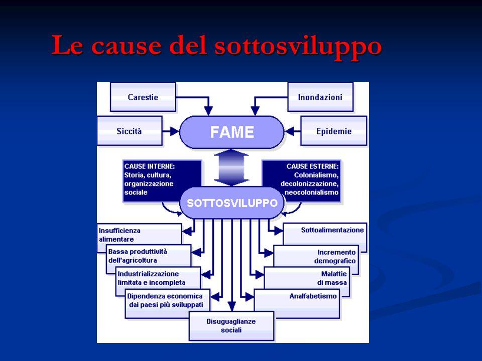 Le cause del sottosviluppo