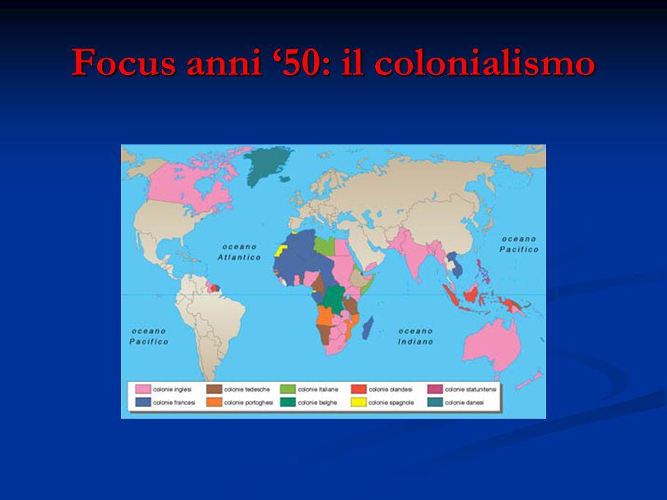 Focus anni '50: il colonialismo