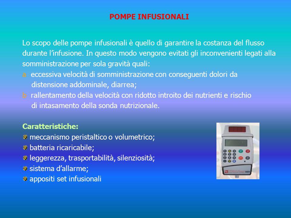 POMPE INFUSIONALI Lo scopo delle pompe infusionali è quello di garantire la costanza del flusso durante l'infusione.