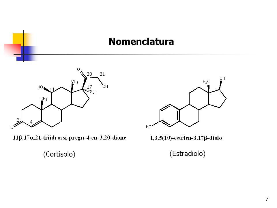 Regolazione biosintetica degli steroidi Ormoni sessuali e glicocortocoidi: regolati dall'asse ipotalamo-ipofisi Mineralcorticoidi: regolati dall'octapeptide angiotensina II 8