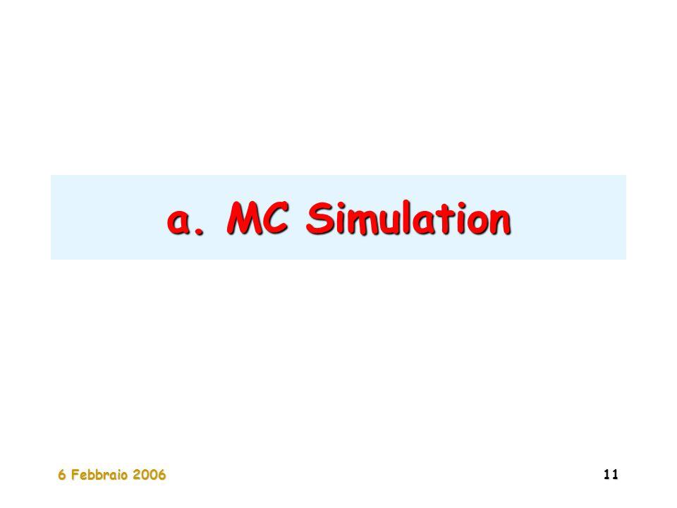 6 Febbraio 200611 a. MC Simulation