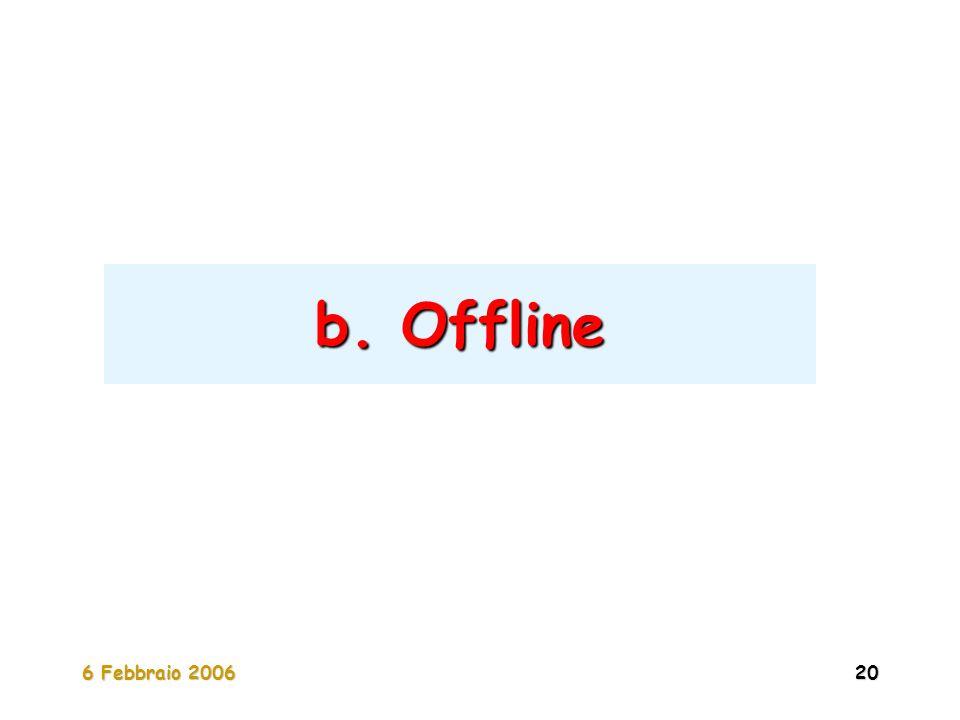 6 Febbraio 200620 b. Offline
