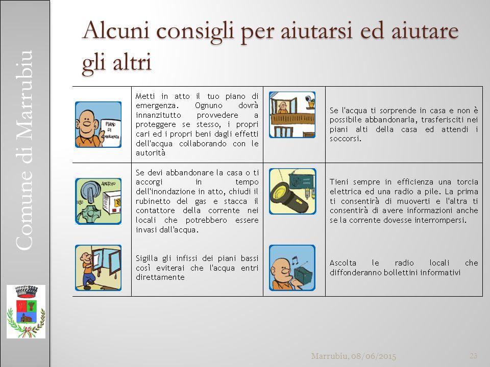 Comune di Marrubiu Alcuni consigli per aiutarsi ed aiutare gli altri Marrubiu, 08/06/201523