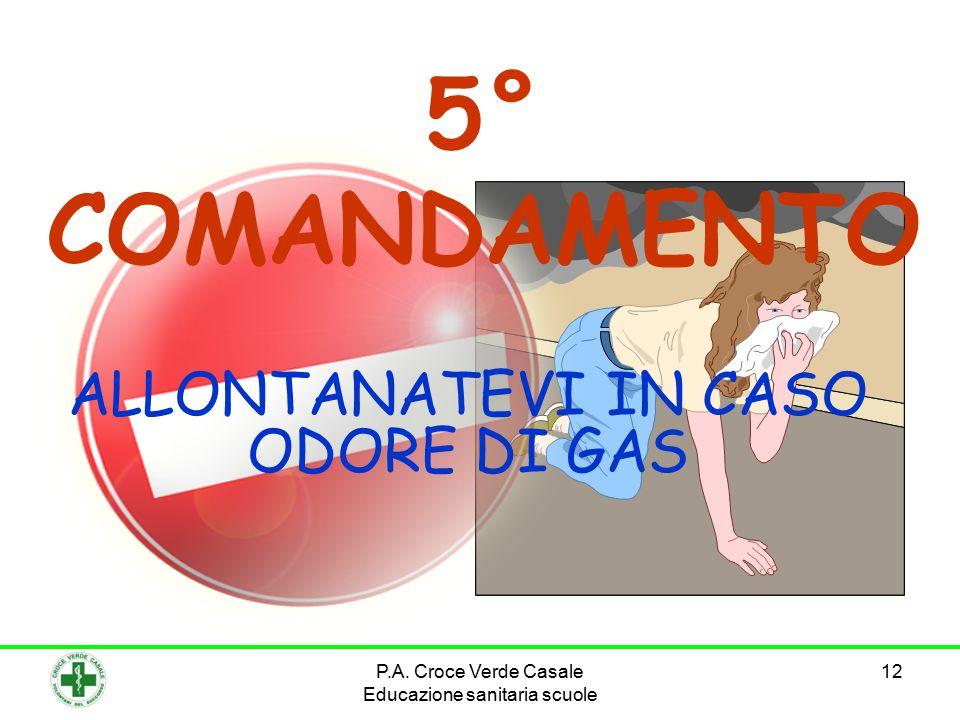 12 5° COMANDAMENTO ALLONTANATEVI IN CASO ODORE DI GAS P.A.