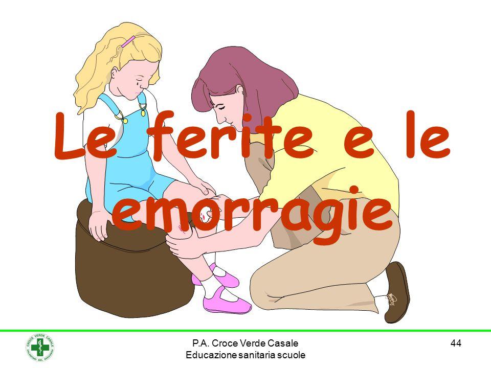 44 Le ferite e le emorragie P.A. Croce Verde Casale Educazione sanitaria scuole