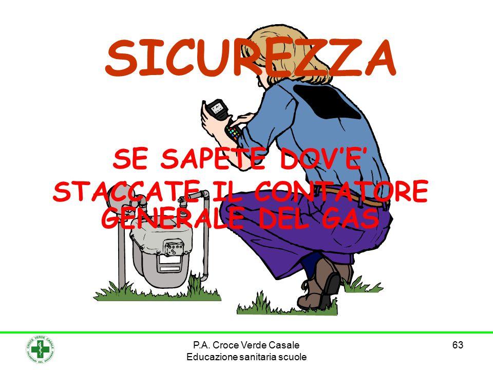 63 SE SAPETE DOV'E' STACCATE IL CONTATORE GENERALE DEL GAS SICUREZZA P.A. Croce Verde Casale Educazione sanitaria scuole