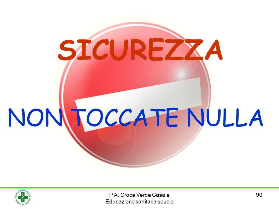 90 SICUREZZA NON TOCCATE NULLA P.A. Croce Verde Casale Educazione sanitaria scuole