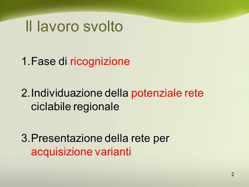 Principi nella definizione della rete 3 1.Utilizzare tracciati esistenti al fine di: ridurre il consumo di suolo, ottimizzare le risorse pubbliche, valorizzare gli elementi territoriali di pregio.