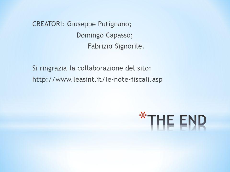 CREATORI: Giuseppe Putignano; Domingo Capasso; Fabrizio Signorile.