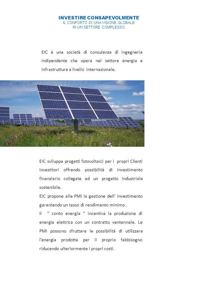 EIC è una società di consulenza di ingegneria indipendente che opera nel settore energia e infrastrutture a livello internazionale.