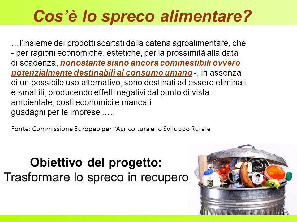 Cos'è lo spreco alimentare? …l'insieme dei prodotti scartati dalla catena agroalimentare, che - per ragioni economiche, estetiche, per la prossimità a